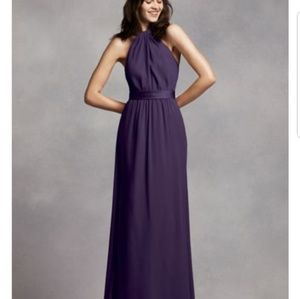 Vera wang bridesmaid plum/purple gown dress size 0